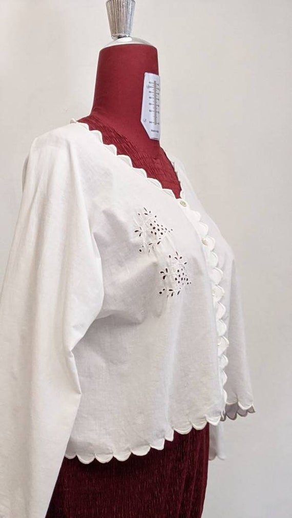 early 1900s antique edwardian loose cotton chemise