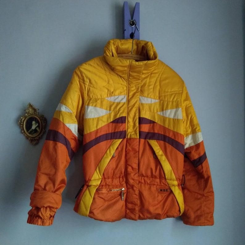 used orange ski jacket womens snowboard jacket mustard