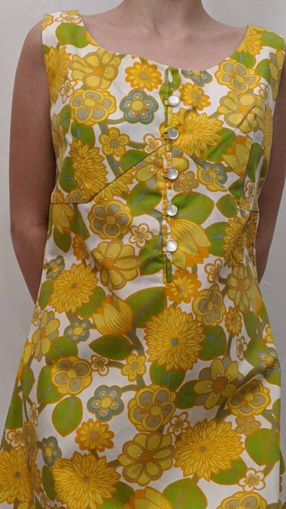 sun psych knee length dress - era vintage
