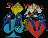 pre-owned distressed vintage soopa villainz t shirt 3X