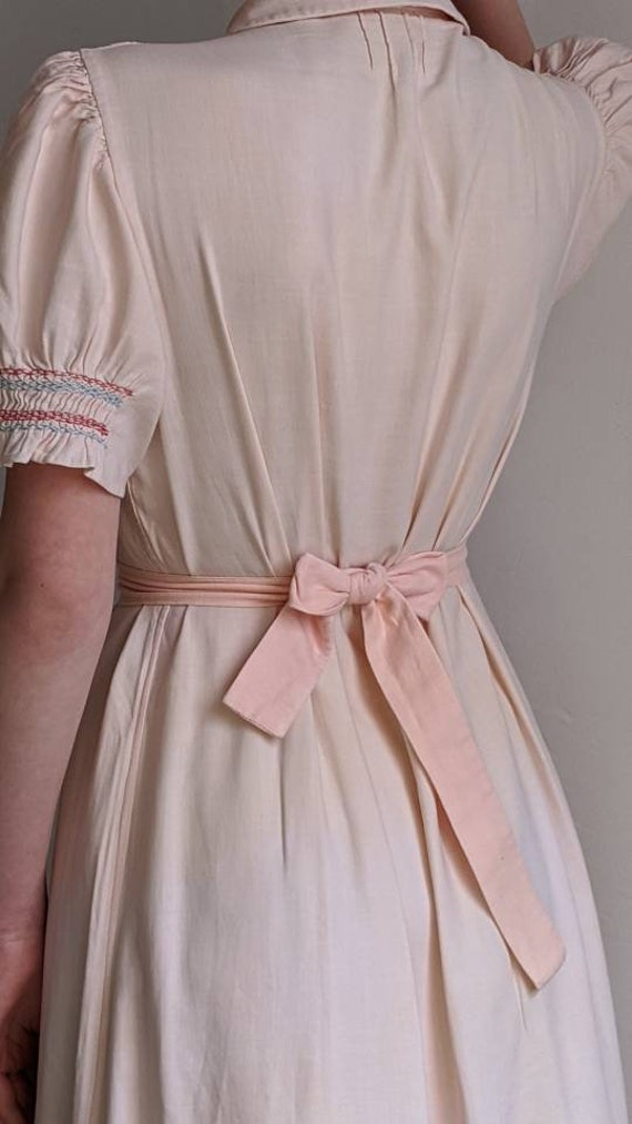 antique dusty pink pioneer cotton dress - image 3