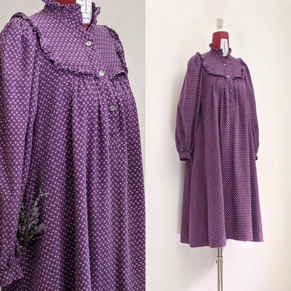 RARE VINtage 60s Carno Wales Laura Ashley purple s