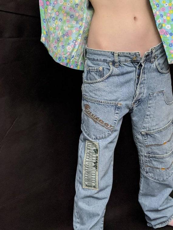 ex-boyfriend many pockets jeans, patch pockets mex