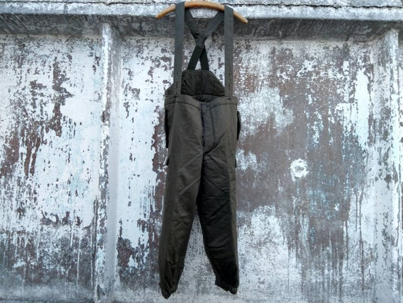pre-owned men's vintage army overalls army green p