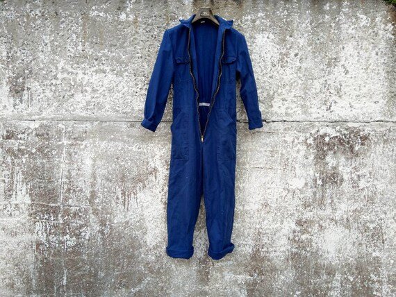 pre-owned vintage herringbone twill coveralls|sanf