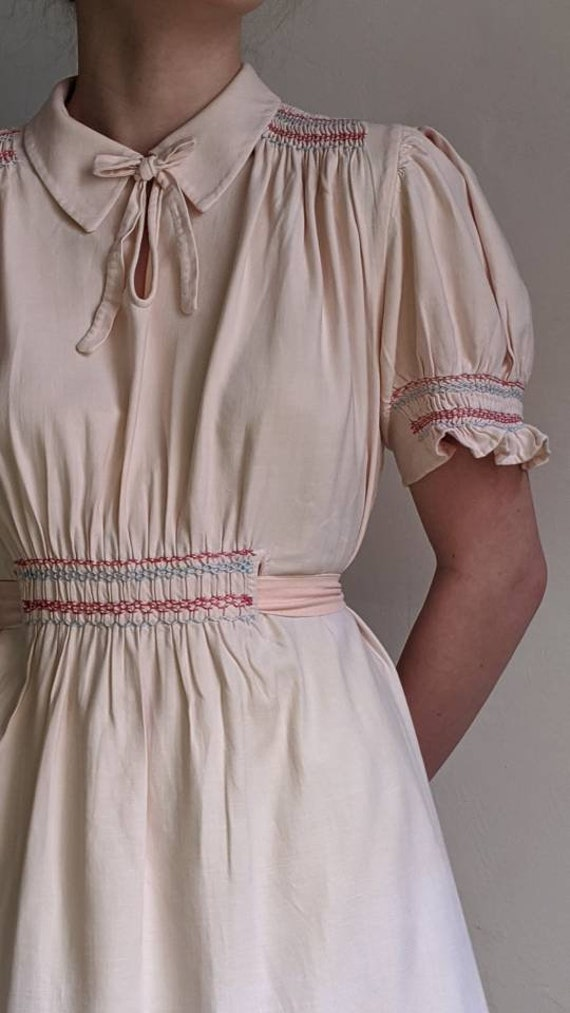 antique dusty pink pioneer cotton dress