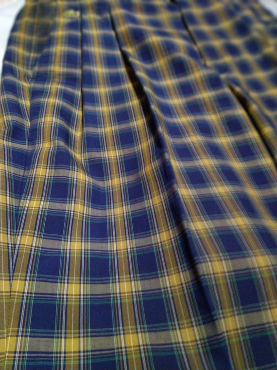 pre-owned vintage lacoste checkered casual pants|… - image 7