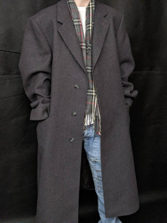 XSml oversized ex-boyfriend straight-cut gray coat