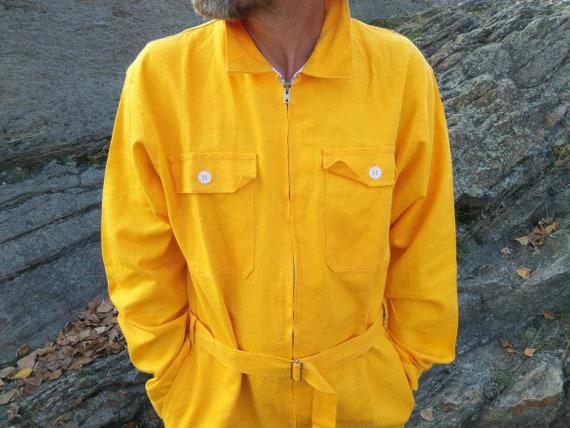 nwot vintage mens workwear overalls|jumpsuit|yello