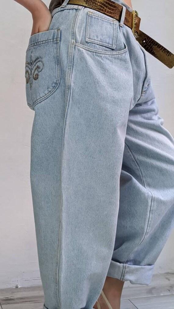 vintage baggy jeans • vintage loose jeans • rhines