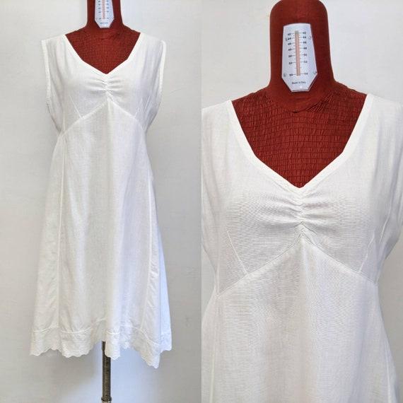 antique edwardian chemise slip under dress - early