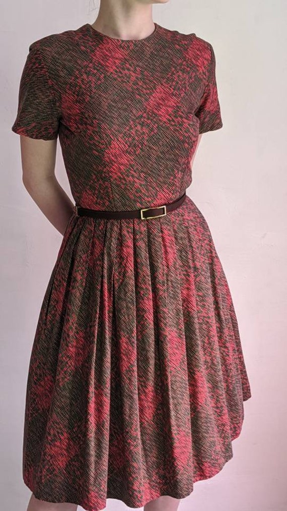 vintage 40s fit and flare day dress - image 6