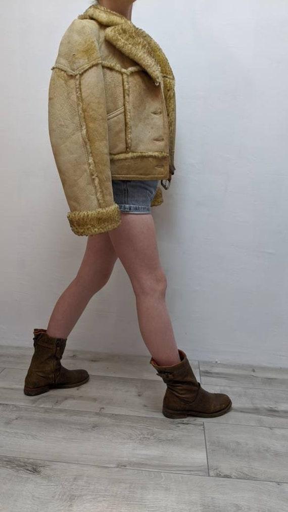 ardney shearling cropped jacket - image 6