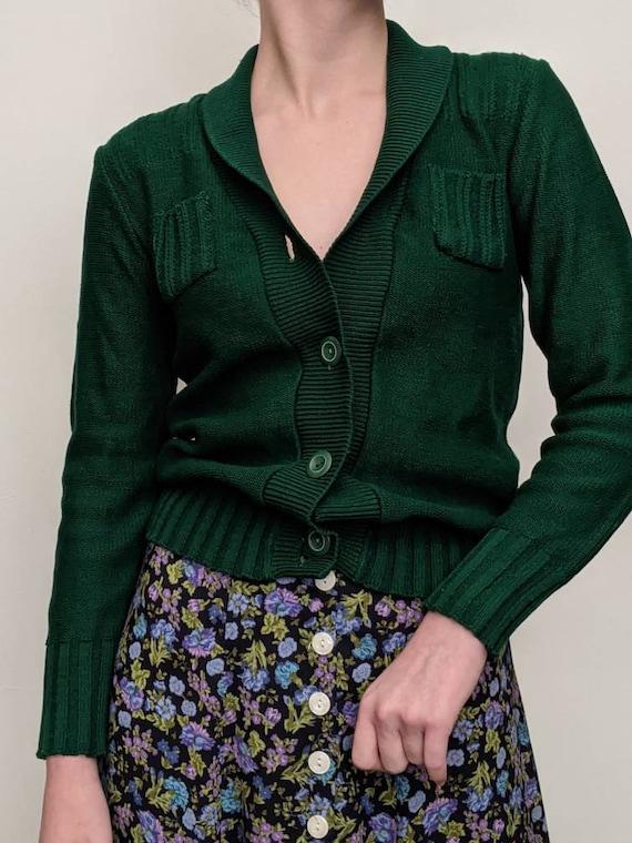 xs s vintage treasure 40s sacramento green sweater