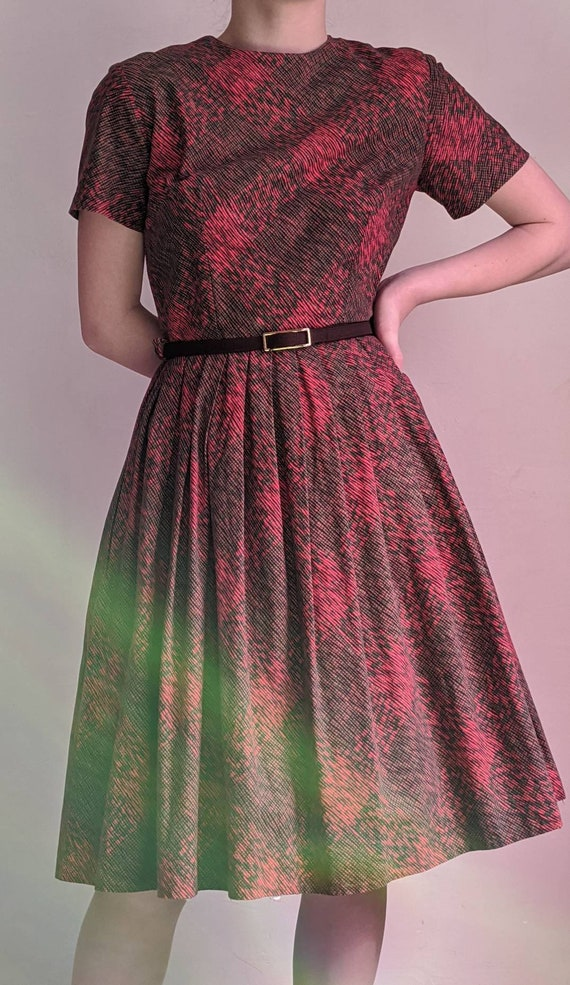 vintage 40s fit and flare day dress - image 10