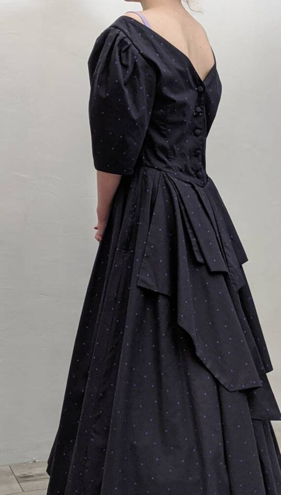 vintage 1980's laura ashley dress. tiered tail dre
