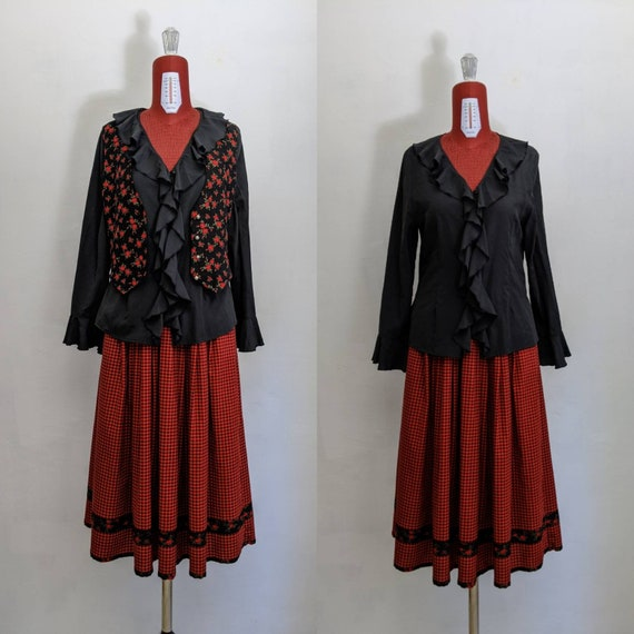 romantic black poet colonial jabot blouse. gothic
