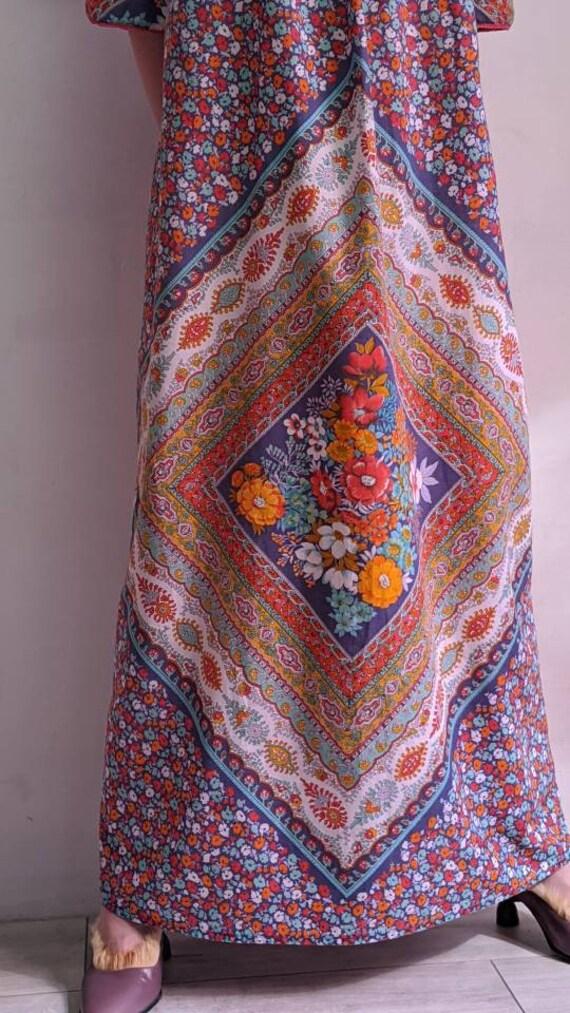 vintage thin floral muumuu dress