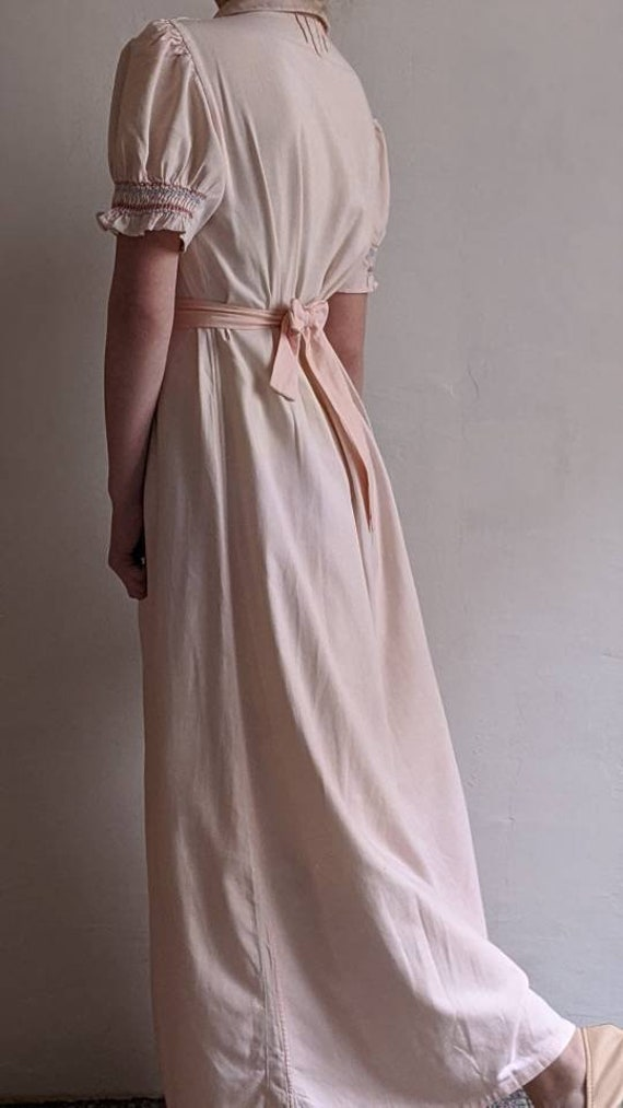 antique dusty pink pioneer cotton dress - image 4