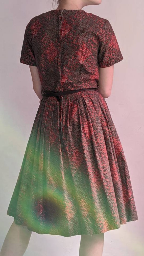 vintage 40s fit and flare day dress - image 9