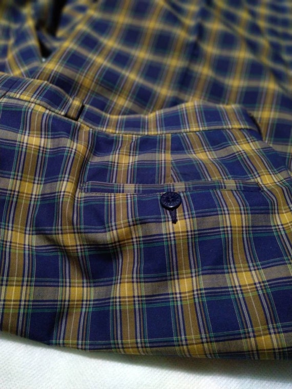 pre-owned vintage lacoste checkered casual pants|… - image 3