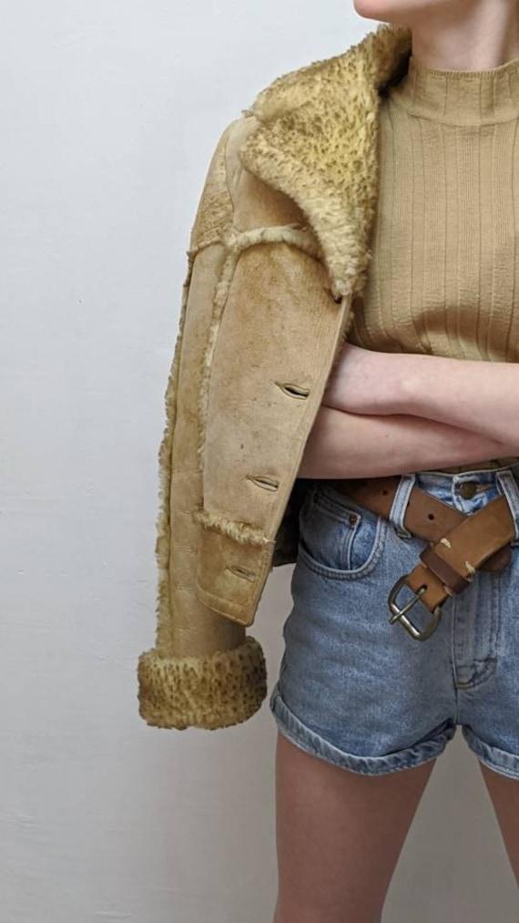 ardney shearling cropped jacket - image 7