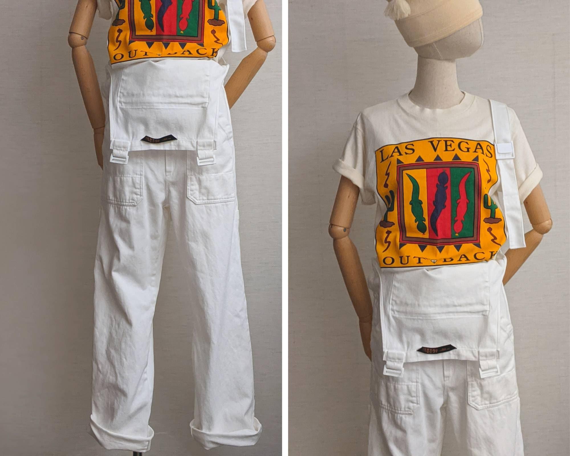 Vintage Overalls & Jumpsuits Painter Overalls Denim Work Clothing Blanco, Carpenter Style Overall Pants $29.19 AT vintagedancer.com