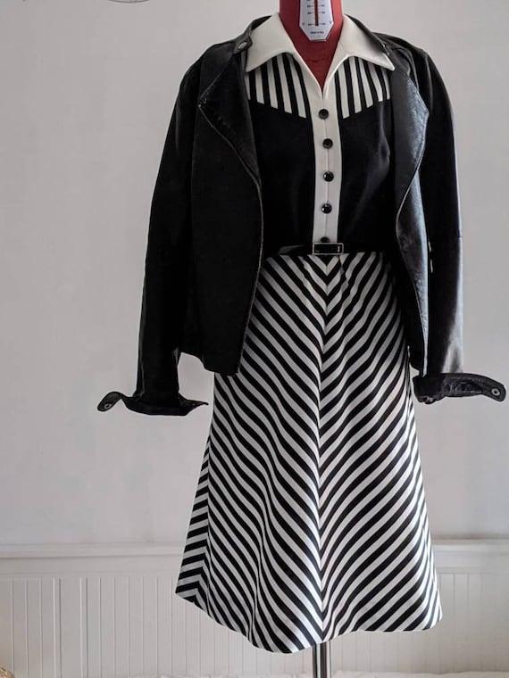 chevron stripe dress