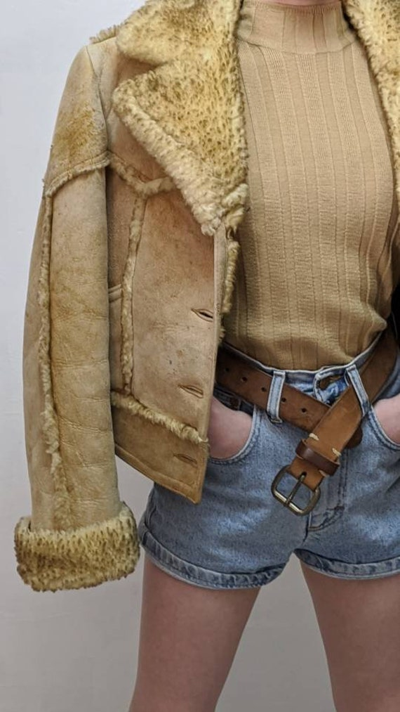ardney shearling cropped jacket - image 4