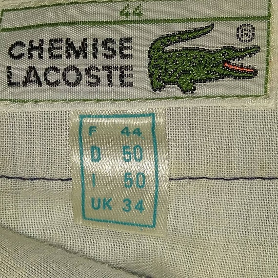 pre-owned vintage lacoste checkered casual pants|… - image 4