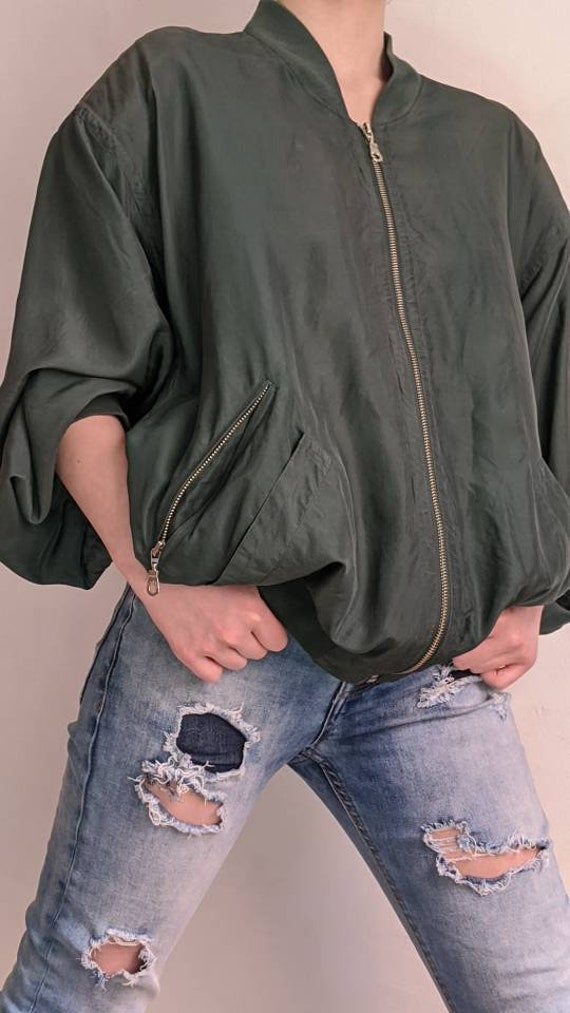 liberty silk bomber jacket - era vintage
