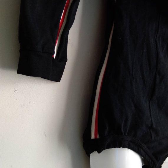 vintage 60s 70s helanca black leotard bodysuit|swi