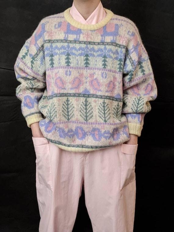 highlander knit wool sweater vintage|womens scotla