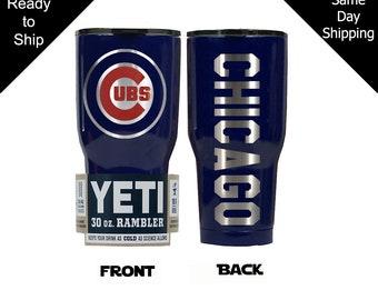 a9b2c9900 Chicago Cubs YETI,Cubs YETI, Chicago Cubs , yeti, Christmas gift,  Powdercoat, 30oz, Laser engraved