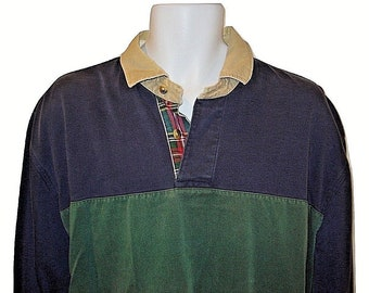 1f68a8da Vintage 90s Nautica Mens Lg Long Sleeve Pullover Polo Shirt Vintage L