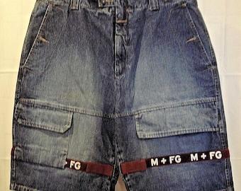 2a056874 Vintage 90s Marithe Francois Girbaud Mens Shuttle Tape M+FG Baggy Jean  Shorts 40