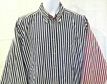 2c64a54c Vintage 90s Tommy Hilfiger Mens XL Red White Blue Button Front Shirt XL