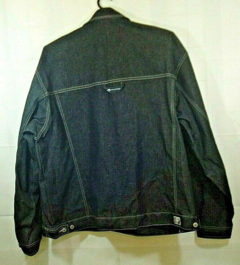 Vintage 90s Hedz Up Mens 4XL Jean Trucker Jacket Denim Size 4XL