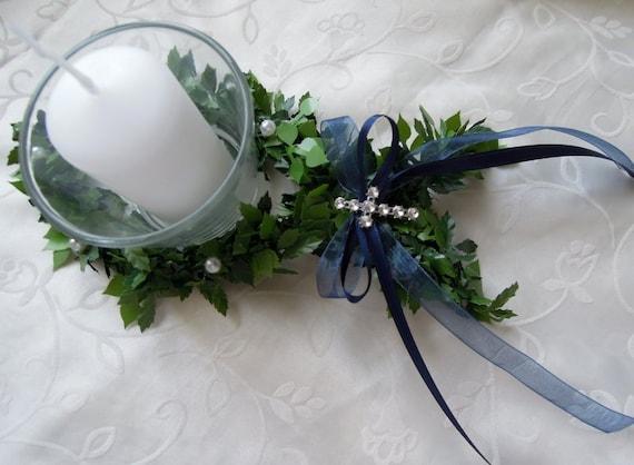 Tischdeko Taufe Konfirmation Kommunion Blau Junge Votivglas Kerze Dekoring Fisch Tischdekoration Hochzeit