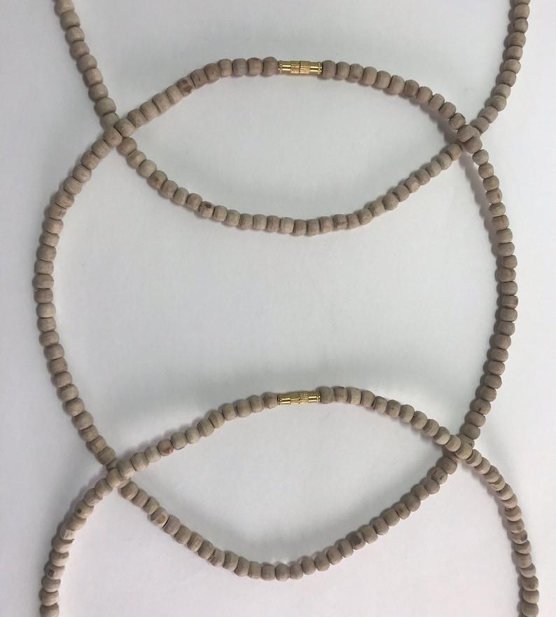 Tulsi Wood Necklace ~ 46cm Set of 3
