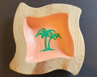 Palm Tree on Palm Frond Bowl