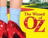 Wizard Of Oz 8 quot x10 quot Fabric Quilt Block Blanket Sewing Fusing Square 5