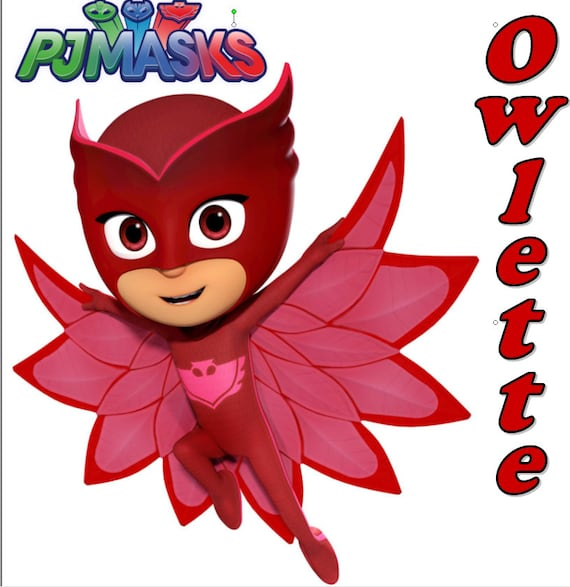 PJ MASKS OWLETTE 2 Disney pink 6,7 x 5,8 cm Iron on patches Application