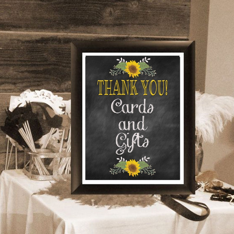 wedding sign thank you cards and gifts 8x10  etsy