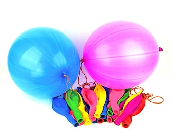 9abb2ed2c Punch Ball Balloons Basketball Balloons 16 Inch Quality Assorted Color  Latex Birthday Punching Balloons Thick Sports Balloons Party Decor