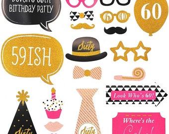 Birthday photo props | Etsy