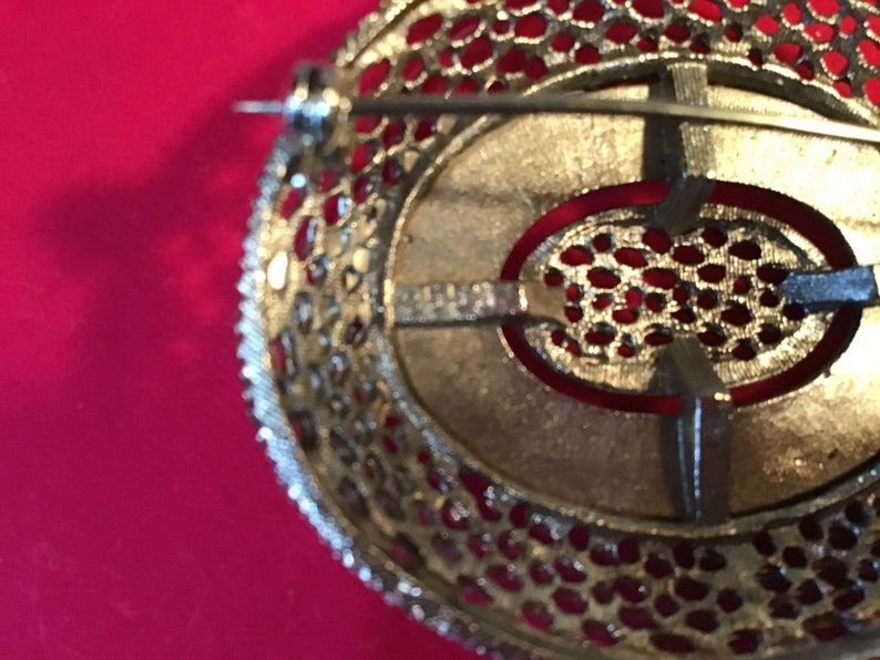 Large vintage silver brooch