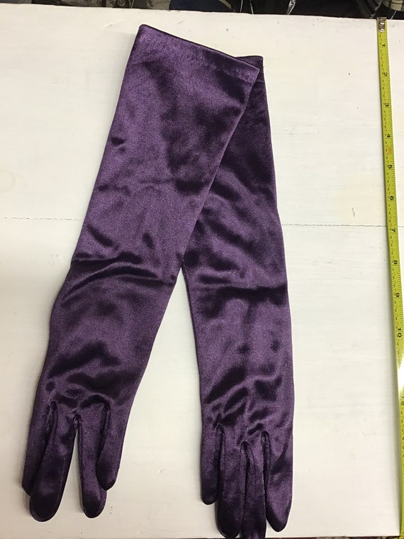 1960 elbow length glove deep purple