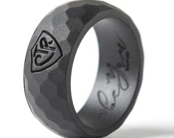 Black Silicone Ring Etsy