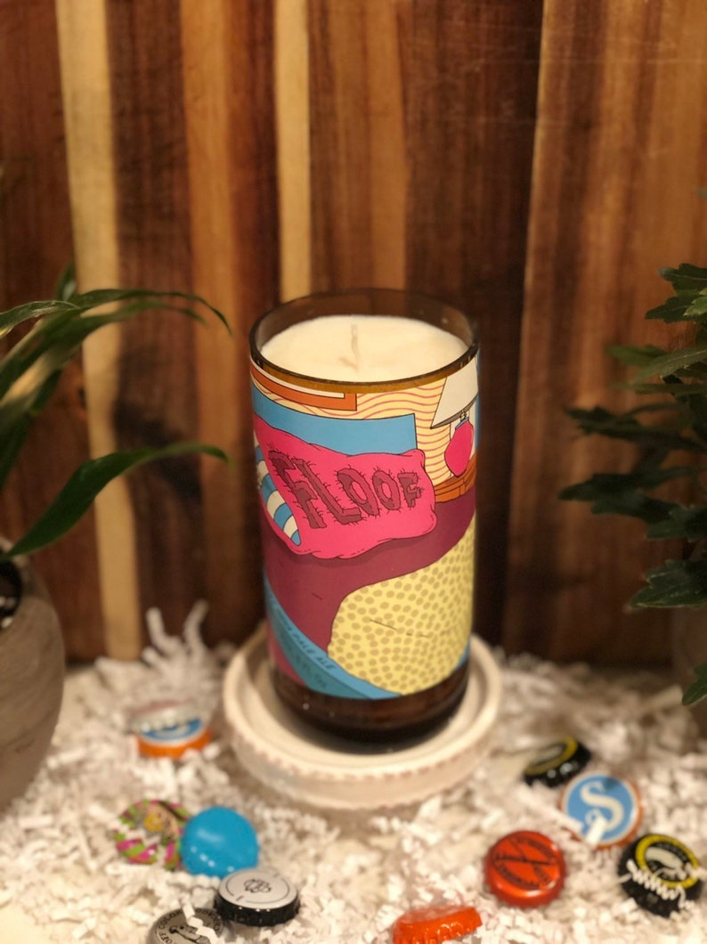 Beer Bottle Candle  Snickerdoodle Scent  Floof  Pipeworks image 0